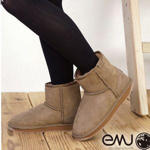 New EMU mushroom colored mini sheepskin boots